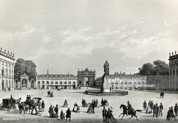 Place Stanislas in Nancy engraving France 19th century