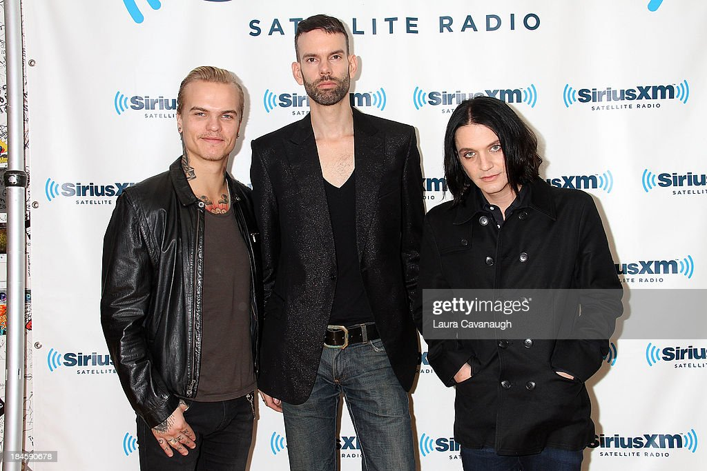Placebo visits SiriusXM Studios on October 14, 2013 in New York City.