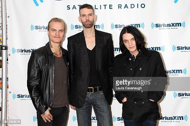 Placebo visits SiriusXM Studios on October 14 2013 in New York City