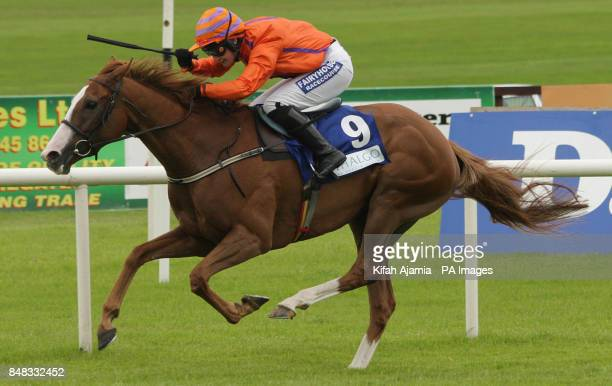 Placere ridden by Nina Carberry wins The Thalgo Ladies Derby Handicap during the Darley Irish Oaks Weekend at Curragh Racecourse Co Kildare Ireland