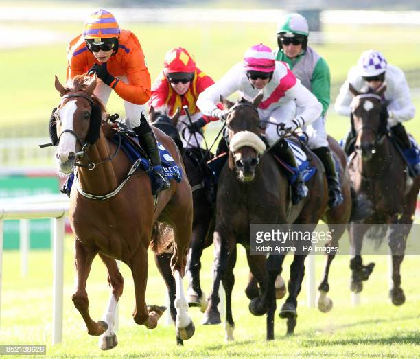 Placere ridden by Nina Carberry wins The Tipperary Crystal Amateur Derby Handicap during Lanwades Stud Blandford Stakes/RACE 40th Anniversary day at...