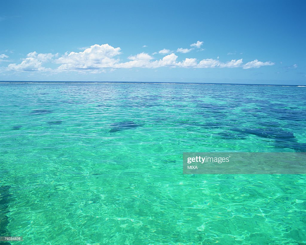 Placid seascape in Tahiti : Stock Photo