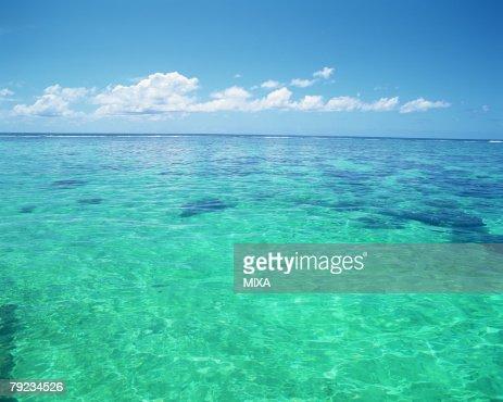 Placid seascape in Tahiti : Stock Photo