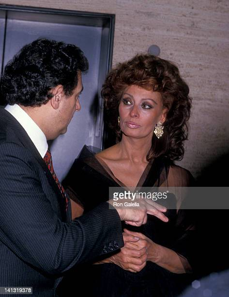 Placido Domingo and Sophia Loren at the Premiere of 'The Fortunate Pilgrim' Lincoln Center New York City