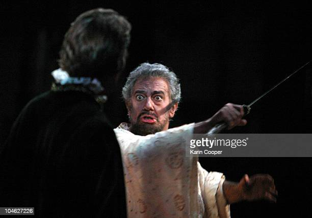 Placido Domingo as Otello in the Washington National Opera prouction TRILOGY featuring an act of the Verdi opera 'Otello' on October 2 2005 in...