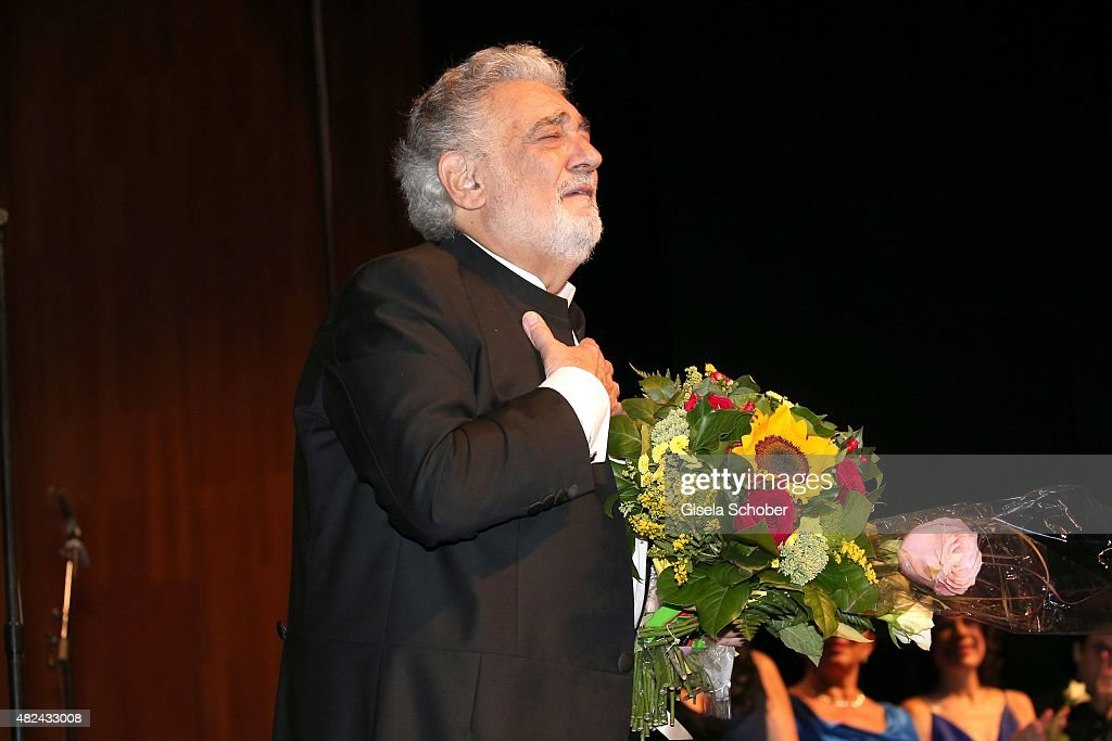 Placido Domingo attends the 40 year stage anniversary of Placido Domingo during the Salzburg Festival on July 30 2015 in Salzburg Austria