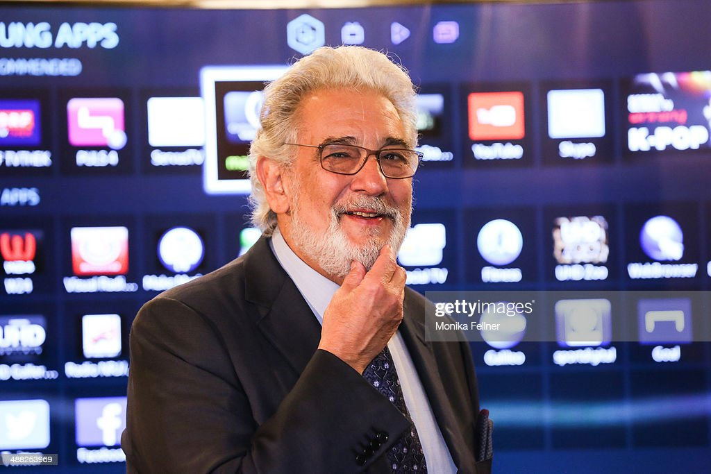 Placido Domingo attends the press conference at Vienna State Opera on May 5, 2014 in Vienna, Austria.