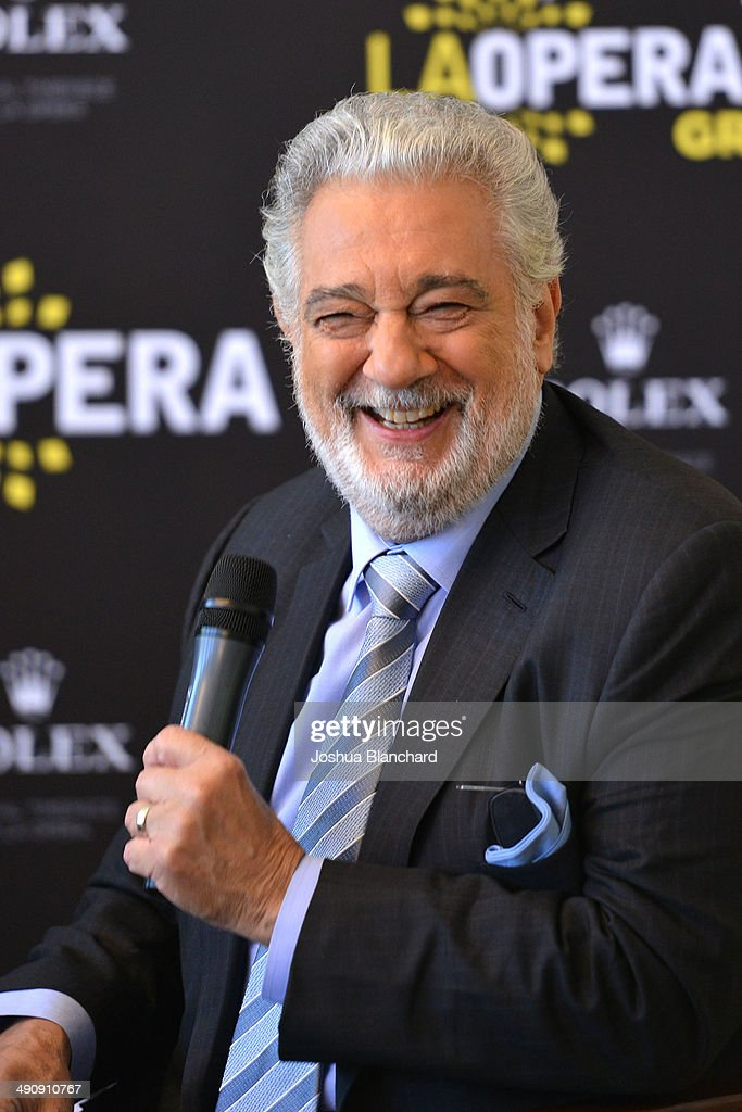 <a gi-track='captionPersonalityLinkClicked' href=/galleries/search?phrase=Placido+Domingo&family=editorial&specificpeople=204571 ng-click='$event.stopPropagation()'>Placido Domingo</a> attends the Renee Fleming And <a gi-track='captionPersonalityLinkClicked' href=/galleries/search?phrase=Placido+Domingo&family=editorial&specificpeople=204571 ng-click='$event.stopPropagation()'>Placido Domingo</a> Q&A at the Dorothy Chandler Pavilion on May 15, 2014 in Los Angeles, California.