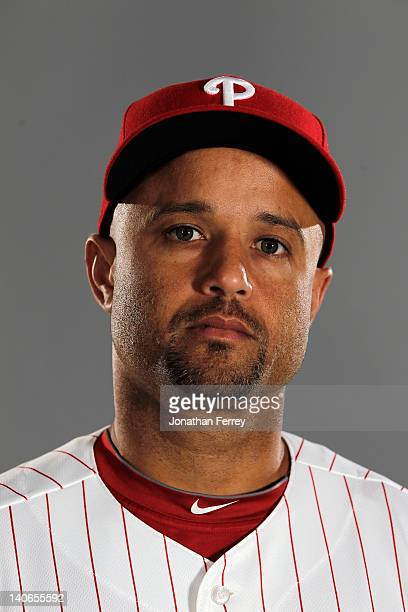 Placido Polanco of the Philadelphia Philles poses for a portrait at the Bright House Field on March 1 2012 in Clearwater Florida