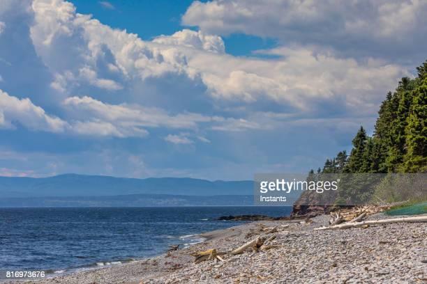 Plage du Petit-Gaspé (Petit-Gaspé beach) in Forillon, one of Canada's 42 National Parks and Park Reserves.