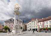 Plague column, Holy Trinity column, Dreifaltigkeitsplatz square, Krems an der Donau, Wachau, Lower Austria, Austria, Europe