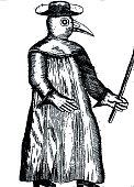 A Plague Doctor from Jean Jacques Manget 'Traité de la peste' 1721