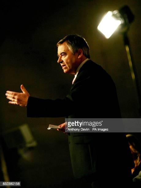 Plaid Cymru leader Ieuan Wyn Jones addresses party members at Brangwyn Hall in Swansea