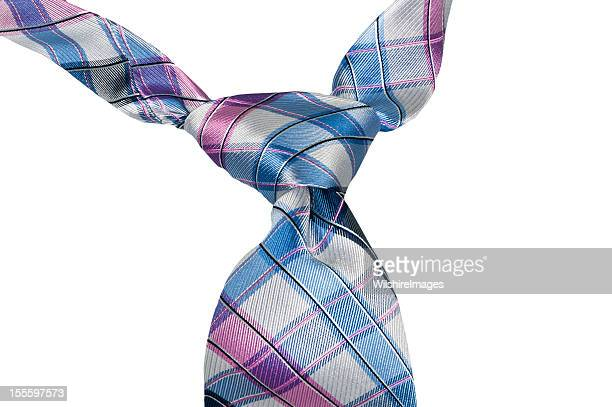 Plaid Tie with Windsor Knot