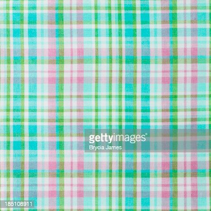 plaid turquoise de vert et de rose fond de tissu photo getty images. Black Bedroom Furniture Sets. Home Design Ideas