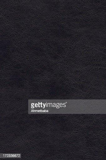 Plain black leather background