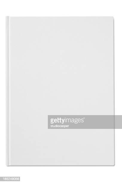 Plain blank white notebook isolated on a white background
