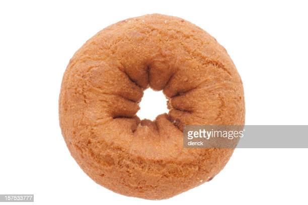 plain donut high angle view