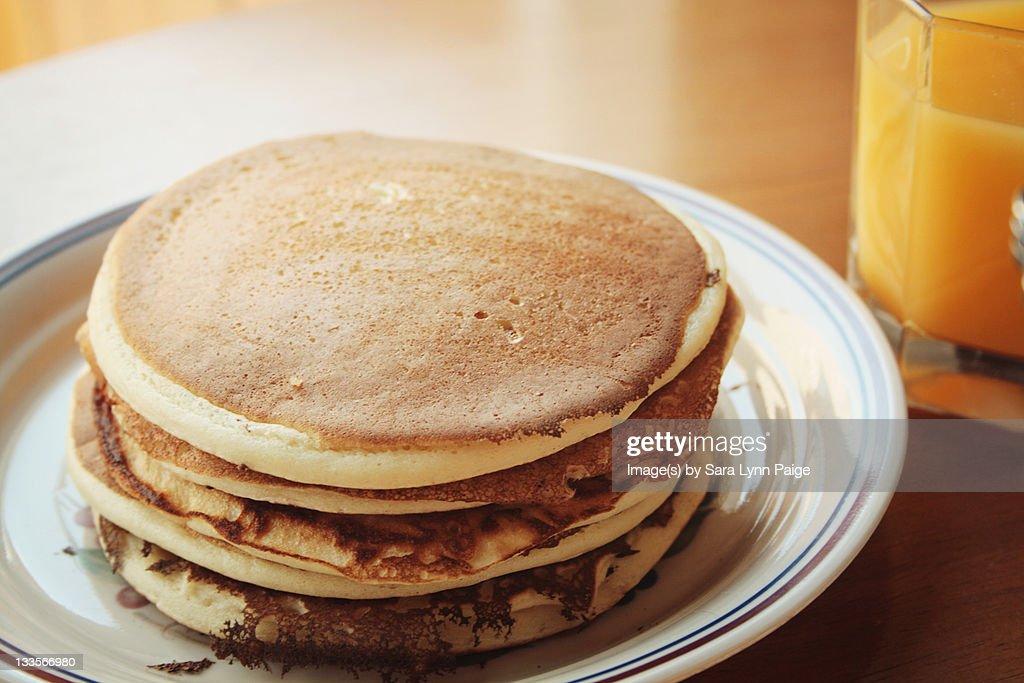 Plain pancakes : Stock Photo