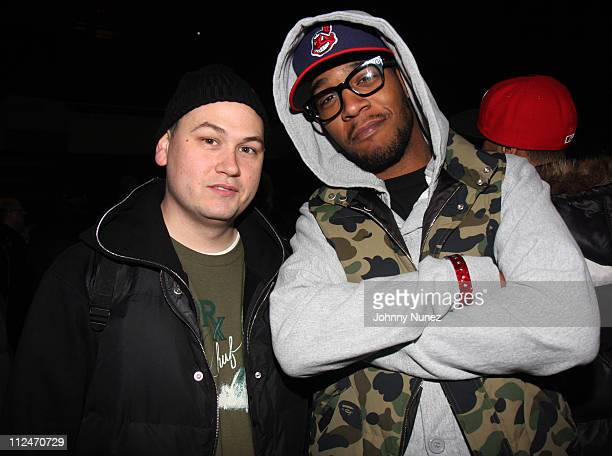 Plain Pat and Kid Cudi attend the 2008 Holiday Bash concert at Nassau Coliseum on December 27 2008 in Uniondale New York
