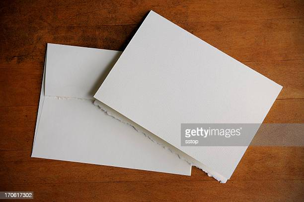 Plain white invitation and envelope