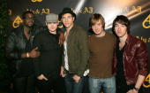 Plain White T's arrive at Aly AJ's Birthday Party at Les Deux nightclub on May 14 2007 in Los Angeles California