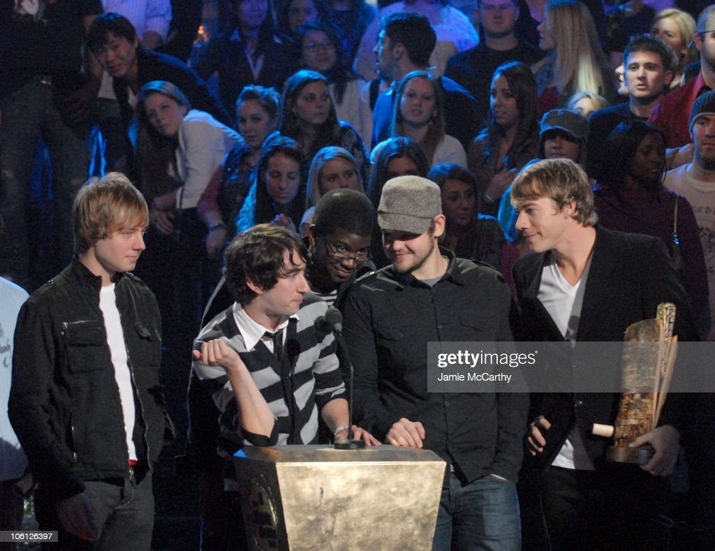 Plain White T's during 2006 mtvU Woodie Awards Show at Roseland Ballroom in New York City New York United States
