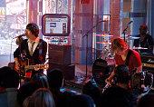 Plain White T's during Shia LaBeouf Visits MTV's 'TRL' June 26 2007 at MTV Studios in New York City New York United States