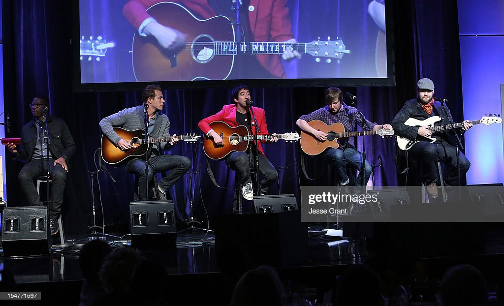 Plain White T's perform during the Arthritis Foundation 'Commitment to a Cure' 2012 Awards Gala at The Beverly Hilton Hotel on October 25, 2012 in Beverly Hills, California.