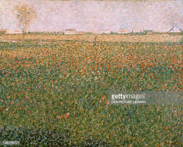 Plain with houses in SaintDenis by Georges Seurat Edinburgh National Gallery Of Scotland