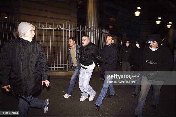 Plainclothes Police Officers 'Chase' Troublemakers During The AntiCpe Labor Law In Paris On April 4Th 2006 In Paris France Here Numerous Police...