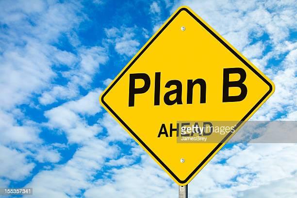 Plan B devant Panneau