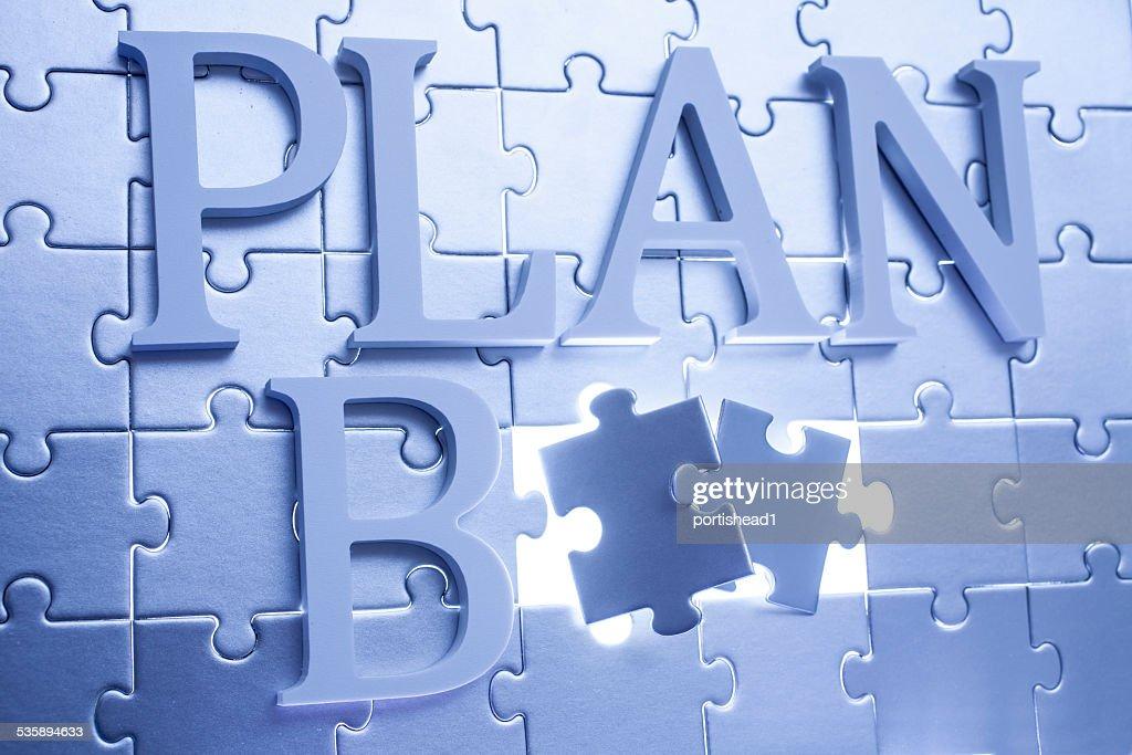 Plan B  concept : Stock Photo