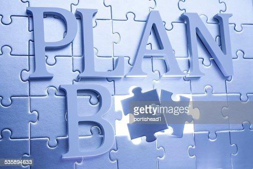 Plan B Konzept : Stock-Foto