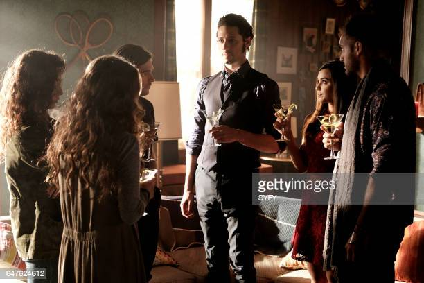 THE MAGICIANS 'Plan B' Episode 207 Pictured Jade Tailor as Kady Jason Ralph as Quentin Hale Appleman as Eliot Summer Bishil as Margo Arjun Gupta as...