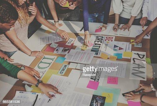 Plan Creative Class Library Student Teacher Ideas Concept : Foto de stock
