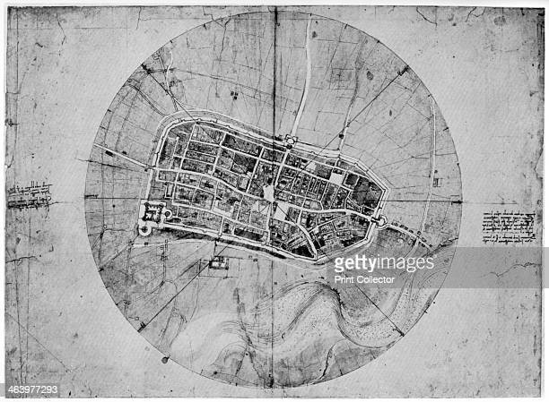Plan of Imola Italy c1502 Found in the collection of the Royal Library Windsor Castle Windsor A print from Leonardo da Vinci by Ludwig H Heydenreich