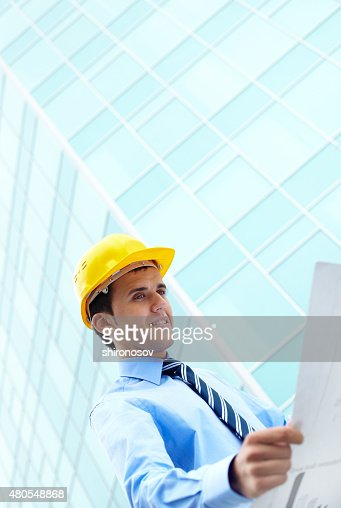Plan of office building : Stock Photo
