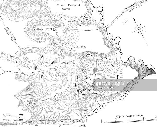 Plan of the Action on the Ingogo ' circa 1880s Episode of the First Boer War From British Battles on Land and Sea Vol IV by James Grant [Cassell...