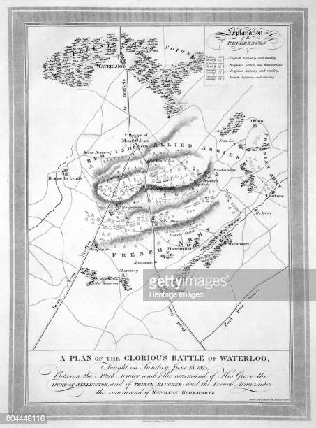 A Plan of the Glorious Battle of Waterloo' 1815 Artist Unknown