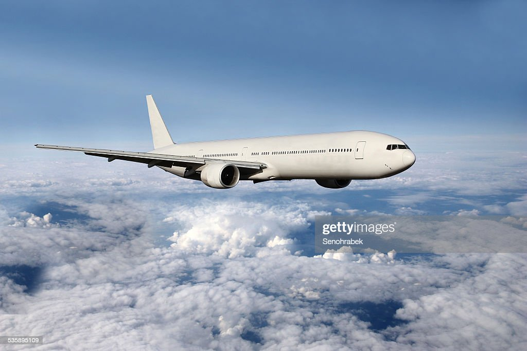 Plane above the clouds : Stockfoto