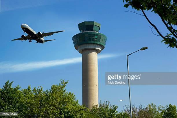 Plane ascending after take off