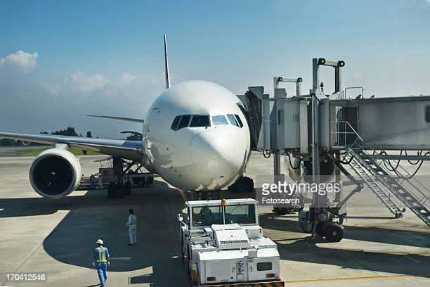 Plane at a gate