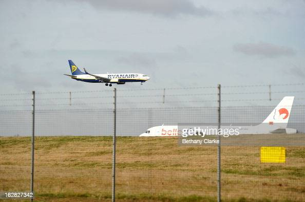 A plane comes into land at Stansted Airport on February 28 2013 in Bishop's Stortford England The deal between Heathrow Airport Holdings formerly...