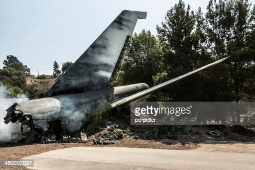 Plane crash : Stock Photo