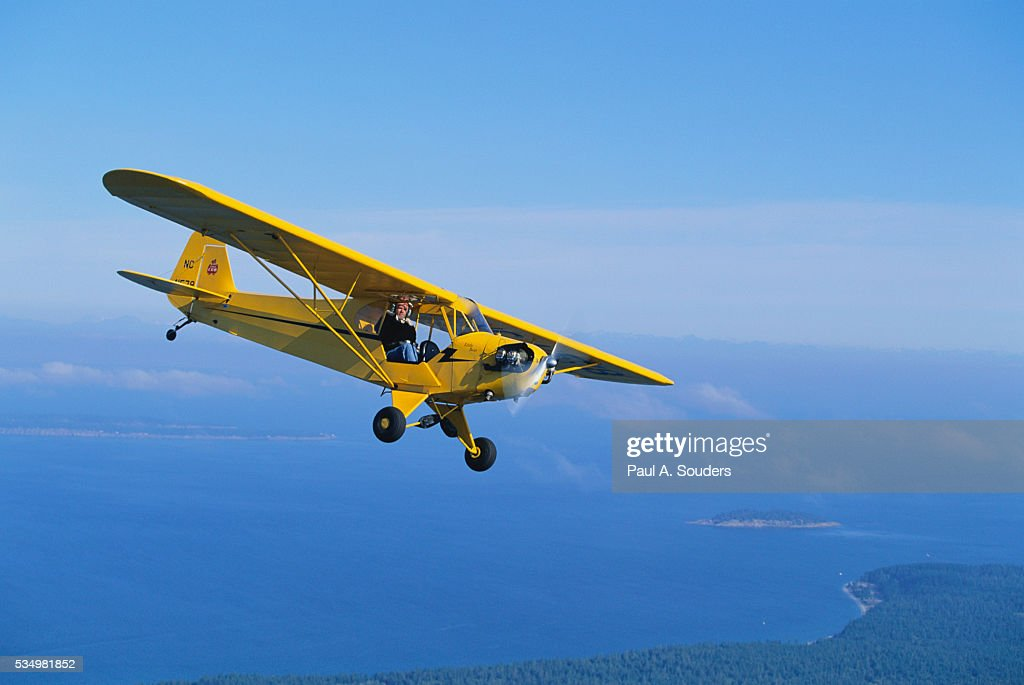 Plane Flying Above Orcas Island