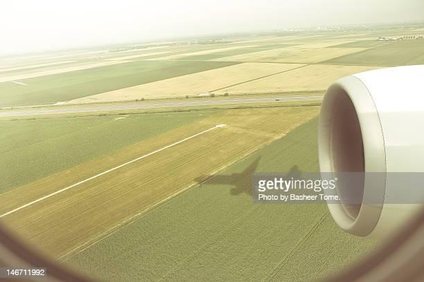 Plane flying over Holland