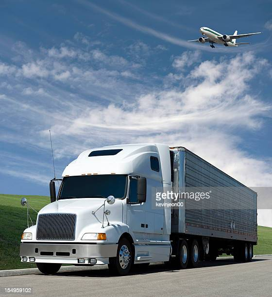 plane over truck