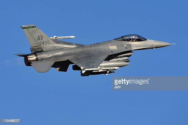 F16 plane takes off from the Aviano air base on March 21 2011 Western and Arab warplanes were converging on Italy's air bases to join the...