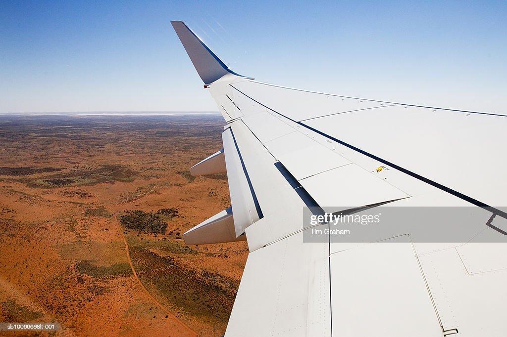 Plane Wing Over Red Centre, Australia : Stock Photo